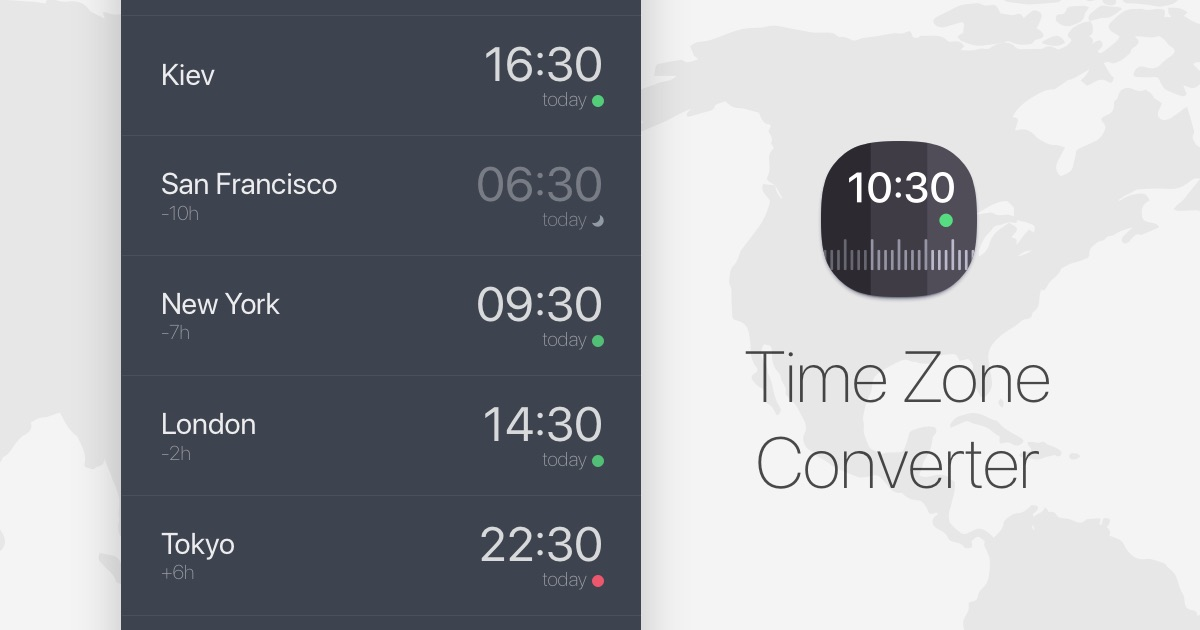 Time Zone Converter and World Clock